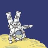 Astronaut on planet Royalty Free Stock Photo