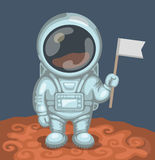 Astronaut on red planet Royalty Free Stock Image