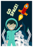 Astronaut and Rocket Launch Stock Photos