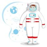 Astronaut in ruimte Royalty-vrije Illustratie