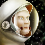 Astronaut in ruimte Stock Foto