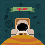Astronaut in ruimte Royalty-vrije Stock Fotografie