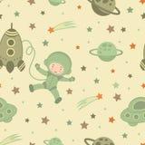 Astronaut in ruimtepatroon stock illustratie