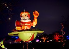 Astronaut Santa Claus Royaltyfria Bilder