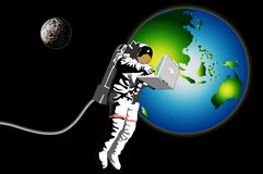 Astronaut in space Royalty Free Stock Image