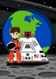 Astronaut with Space Capsule. An EPS file is also available royalty free illustration