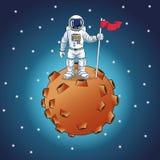 Astronaut space cartoon design Stock Photography