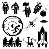 Astronaut Space Exploration Clipart Stock Photo
