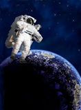 Astronaut in space Stock Photography