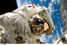 Astronaut, Space Shuttle, Discovery Stock Photo