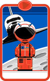 Astronaut with Space Shuttle. An EPS file is also available royalty free illustration