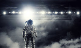 Astronaut in space suit Stock Image