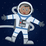 Astronaut or Spaceman in the Outer Space Royalty Free Stock Image