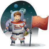 Astronaut spaceman vector cartoon with separated layers Stock Image