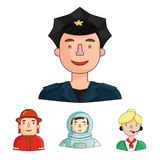 Professions related icon set Stock Image