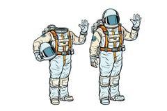 Astronaut in spacesuit en model zonder een hoofd royalty-vrije illustratie
