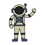 Astronaut spacesuit helmet antenna. Illustration eps 10 Royalty Free Stock Images