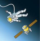 Astronaut Spacewalk stock illustration