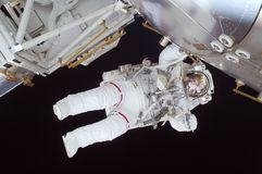 Astronaut, Spacewalk, Space Shuttle Royalty Free Stock Photos