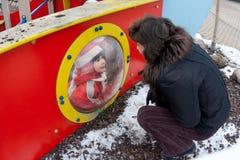 astronaut spelar submariners Royaltyfri Foto