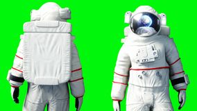 Astronaut stay idle . Green screen. 3d rendering. Astronaut stay idle . Green screen. 3d rendering Stock Photos