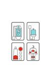 Astronaut stickers for kids. Isolated astronaut stickers for kids room Stock Images