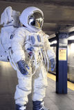 Astronaut on Subway Stock Photos