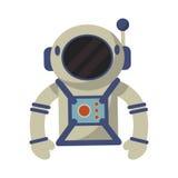 Astronaut suit and helmet. Illustration eps 10 Stock Photo