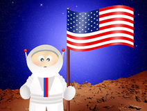 Astronaut to Mars Royalty Free Stock Photography