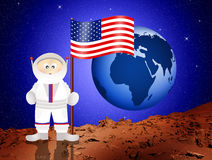 Astronaut to mars Stock Photography