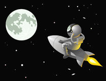 Astronaut to the Moon Royalty Free Stock Image