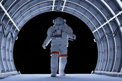 Astronaut in the tunnels Stock Photography