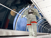 Astronaut in the tunnels Stock Photo