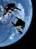 astronaut två Arkivfoto