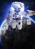 The astronaut un the space Royalty Free Stock Image