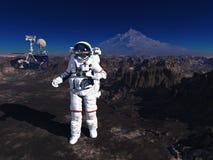 Astronaut und moonwalker stockfotos