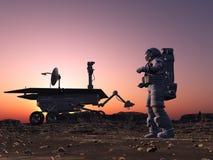 Astronaut und moonwalker lizenzfreie stockfotografie