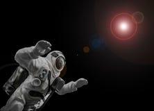 Astronaut und Raum stockbild