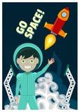 Astronaut und Rocket Launch Stockfotos