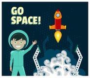 Astronaut und Rocket Launch Stockfotografie