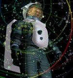 Astronaut und Starfield Lizenzfreie Stockfotos