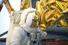 Astronaut van de Module van Apollo de Maan royalty-vrije stock fotografie