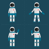 Astronaut in various poses Stock Photography