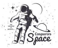 Astronaut Vector Illustration Fotografering för Bildbyråer