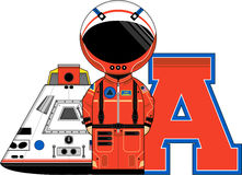 A is for Astronaut Royalty Free Stock Photography