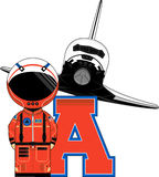 A is for Astronaut Stock Image