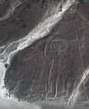 Astronaut is visible from the Nazca desert. Royalty Free Stock Photos