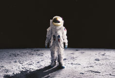 Free Astronaut Walking On The Moon Royalty Free Stock Images - 68994169