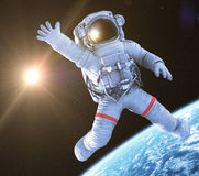 Astronaut waving, 3d render, Royalty Free Stock Image