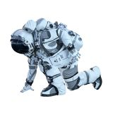 Astronaut on white. Mixed media Stock Images